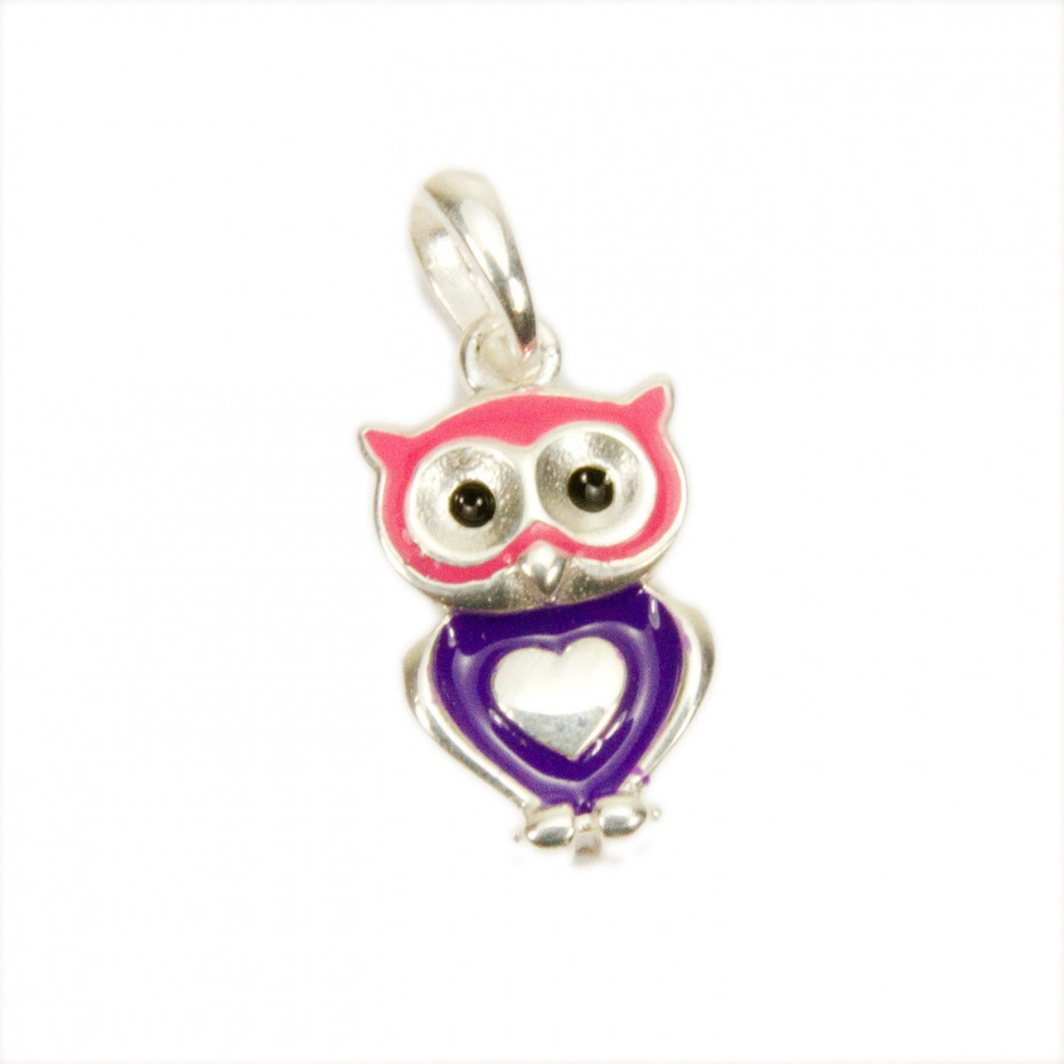 Kinderschmuck Stecker Eule Uhu rosa violett pink Ohrstecker Silber 925