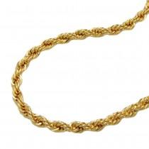 Kette, 42cm, Kordelkette, 9Kt GOLD