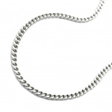 Halskette Kette, silberne Panzerkette Silber 925 38cm