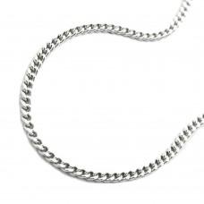 Halskette, Kette, silberne Panzerkette Silber 925 45cm rhodiniert