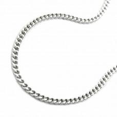 Halskette Kette, silberne Panzerkette Silber 925 36cm
