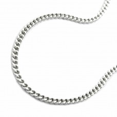Halskette, Kette, silberne Panzerkette Silber 925 40cm rhodiniert