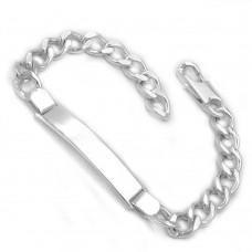 Schildband Armband Weitpanzer Silber 925