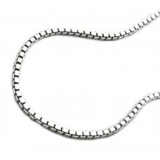 Halskette Kette, Venezianer, Veneziakette 1.3 rhodiniert, Silber 925 40cm
