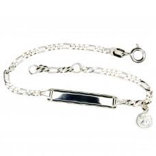 Kinderschmuck, Schildband, Armband mit Gravurplatte f. Kinder Silber 925 16cm