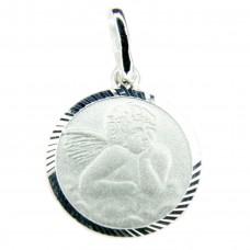 Set Anhänger Schutzengel mit Venezianerkette 40cm, Silber 925