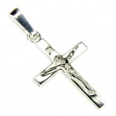 Anhänger Kreuz mit Jesus 21x11mm , Silber 925