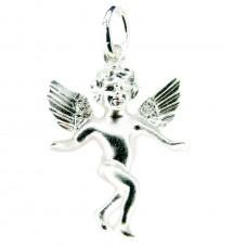 Anhänger, hübscher körperlicher Engel, Silber 925
