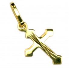 Anhänger Kreuz klein 17,5x8,3mm, 8Kt GOLD