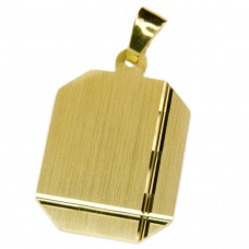 Anhänger, Gravurplatte, Gold 333