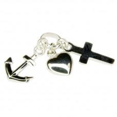Anhänger Einhänger Glaube-Liebe-Hoffnung, Seemannsgrab, Silber