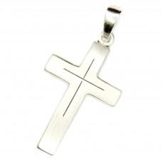 Anhänger Kreuz mattiert 28,8x14,2mm, Silber 925