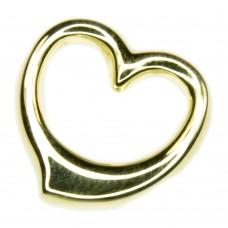 Anhänger, goldenes Herz 12mm  offen poliert, 8Kt GOLD