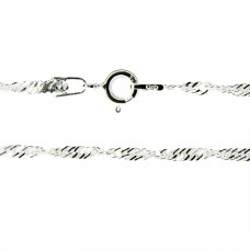 Halskette Kette, Singapur, 45cm, Silber 925