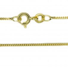 Goldene Halskette, Kette, Panzerkette 1,1mm breit 50cm, 8Kt GOLD 333