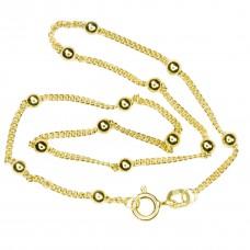 vergoldete Kugel-Fußkette Silber 925 27cm Gold-plattiert goldene vergoldet Fußkette