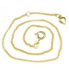 Goldene Fußkette, Kette, Ankerkette 25cm, 8Kt GOLD 333