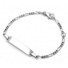 Kinderschmuck, Schildband für Kinder Figaro Silber 925