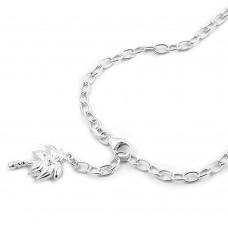 Fußkette Anker Palme Silber 925