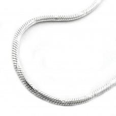 Kette, Schlange diamantiert Silber 925
