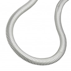 Armband, Schlange flach 19cm, Silber 925