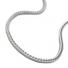 Kette Fuchsschwanz vierkant Silber 925
