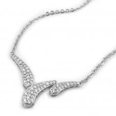 Kette, Schweif, rhodiniert, Silber 925