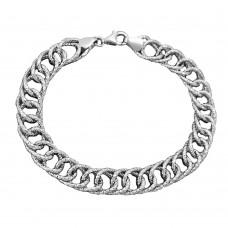 Armband Fantasie, rhodiniert, Silber 925