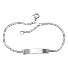 Schildband, glatte Platte, Silber 925