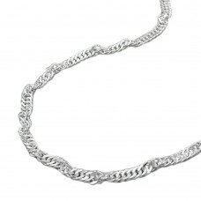 Halskette Kette, Singapur, 40cm, Silber 925