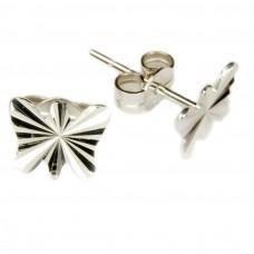 Ohrstecker, Stecker, Schmetterling  diamantiert, 925 hochwertig rhodiniert