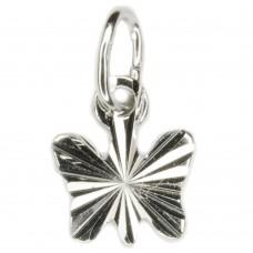 Anhänger, Schmetterling  diamantiert, 925 hochwertig rhodiniert