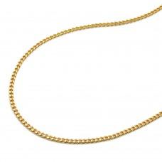 Halskette Kette, Panzerkette Gold plattiert 1,4mm 42cm