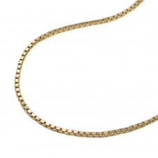 Halskette Kette, Venezianerkette Goldkette Gold plattiert 1,0mm 42cm