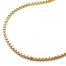 Halskette Kette, Venezianerkette Goldkette Gold plattiert 1,2mm 50cm
