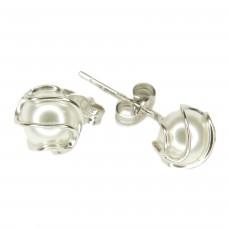 Ohrstecker, Stecker, Perle Wachsperle weiß, Silber 925 hochwertig rhodiniert