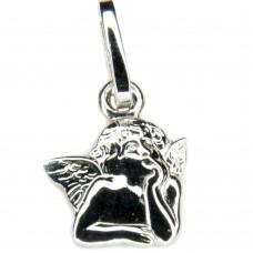 Anhänger, kleiner Engel, Silber 925 hochwertig rhodiniert