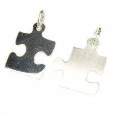 Anhänger, Freundschaftanhänger Puzzle-Teile, Silber 925