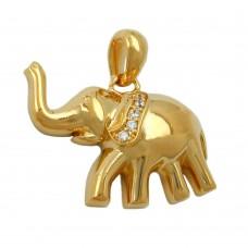Anhänger Elefant vergoldet 3 Micron