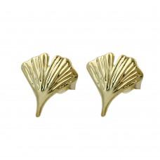 Ohrstecker, Stecker, 12mm Ginkgoblatt 8Kt GOLD