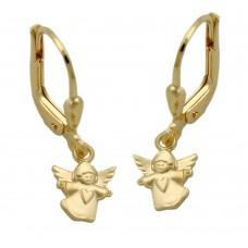 Ohrring, Ohrhänger, Brisur, fliegender Engel, 9Kt GOLD
