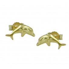Ohrstecker, Stecker, Delfin diamantiert 9Kt GOLD