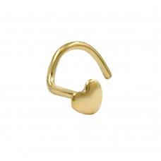 NasenOhrstecker, Stecker, kleines Herz, 18Kt GOLD