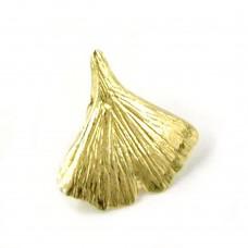 Anhänger, 9mm Ginkgoblatt glzd 9Kt GOLD