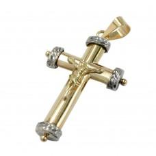Anhänger, Kreuz-Jesus bicolor 9Kt GOLD