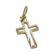 Anhänger Kreuz diamantiert 21x9mm, 14Kt GOLD