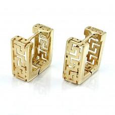 Creole, Viereck matt Muster, 9Kt GOLD