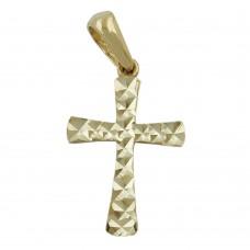 Anhänger, Kreuz, diamantiert, 9Kt GOLD
