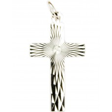 Anhänger Kreuz 32x15mm, diamantiert, Silber 925 rhodiniert