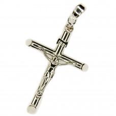Anhänger Kreuz mit Jesus 35x20mm, Silber 925 rhodiniert